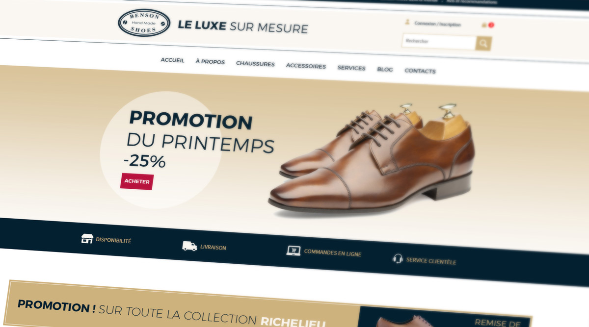 Site Web Benson Shoes