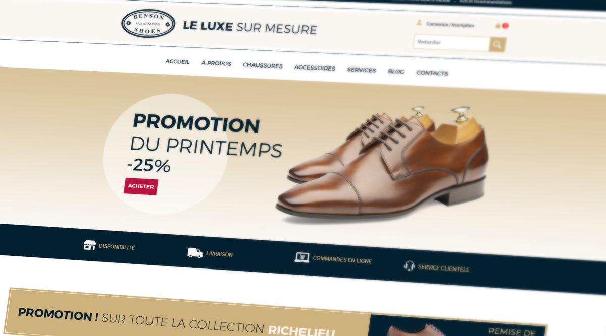 Site Web Benson Shoes